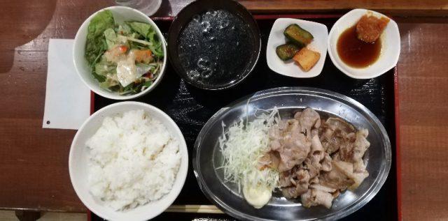 豚バラ定食シングル