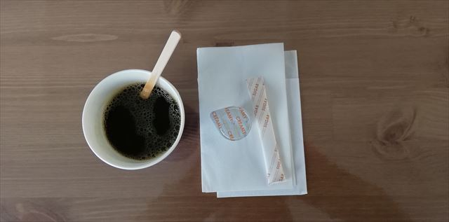 """京都スタジアム内フードコート 結や """"MUSUBIYA"""" にてホットコーヒー"""